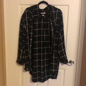 Black & White Flannel Shirt - No Gap
